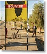 Equator In Kenya Metal Print