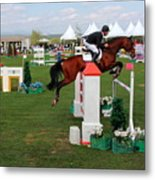 Equestrian Jumping Competition  Metal Print