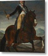Equestrian Portrait Of Fernando Vii Metal Print