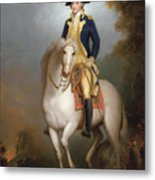 Equestrian Portrait Of George Washington Metal Print by Rembrandt Peale