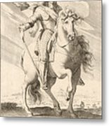 Equestrian Portrait Of Louis Xiii Of France Metal Print