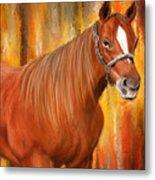 Equine Prestige - Horse Paintings Metal Print