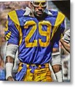 Eric Dickerson Los Angeles Rams Art Metal Print