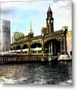 Erie Lakawanna Ferry And Train Station Metal Print
