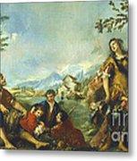 Erminia And The Shepherds Metal Print