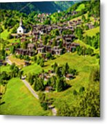 The Alpine Village Of Ernen In Switzerland  Metal Print
