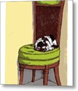 Ernie And Green Chair Metal Print