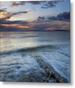 Eroded By The Tides Metal Print