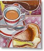 Eroica Britannia And Bakewell Pudding On Pink Metal Print
