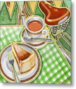 Eroica Britannia Bakewell Pudding And Cup Of Tea On Green Metal Print