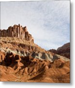 Erosion Shows The Layers Of Sediment Metal Print