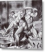 Erotic Drawing Three Metal Print