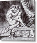 Erotic Nude Drawing One Metal Print