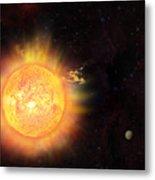 Eruption - Solar Storm Metal Print