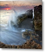 Eruption At Dawn Metal Print