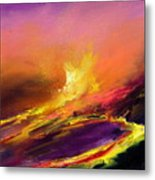 Eruption By Night Metal Print