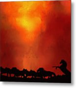 Escaping The Inferno Metal Print