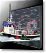 Escaping The Seagulls Metal Print