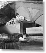 Escher Bridge Metal Print