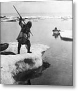 Eskimo Fishermen Metal Print