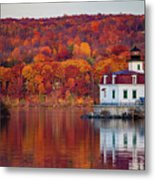 Esopus Lighthouse In Late Fall #1 Metal Print