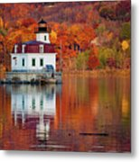Esopus Lighthouse In Late Fall #2 Metal Print