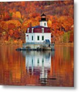 Esopus Lighthouse In Late Fall #3 Metal Print