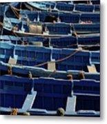 Essaouira Blue Boats Metal Print