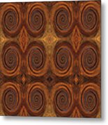 Essence Of Rust - Tiled Metal Print