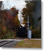 Essex Steam Train Coming Into Fall Colors Metal Print
