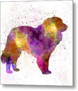 Estrela Mountain Dog In Watercolor Metal Print