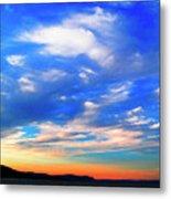 Estuary Skyscape Metal Print