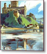 Esztergom, Beautiful City On Danube River, Hungary,  Metal Print