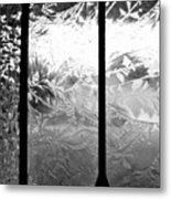 Etched In Glass Metal Print