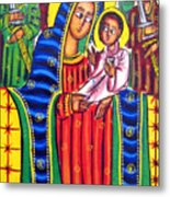 Ethiopian Mary And Jesus Metal Print