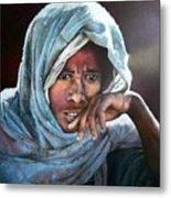 Ethiopian woman in contemplative mood Metal Print