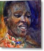 Ethnic Woman Portrait Metal Print