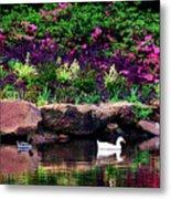 Ethreal Beauty At The Azalea Pond Metal Print