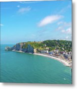 Etretat From Above, France Metal Print