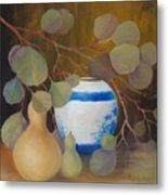 Eucalyptus And Vase Metal Print