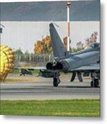 Eurofighter Typhoon 2000 With Parachute Metal Print