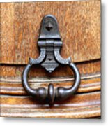European Door Knocker Metal Print