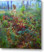 Eve Exiting Eden Metal Print