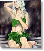 Eve In The Garden Ll Metal Print