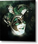 Even With Her Mask, Her Eyes Give Her Away Metal Print