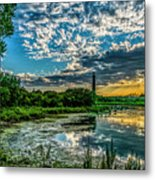 Evening Approaching Cape May Light Metal Print