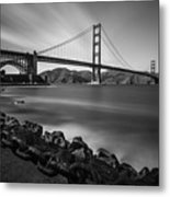 Evening At Golden Gate Bridge Metal Print