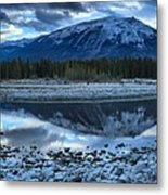 Evening At The Athabasca River Metal Print
