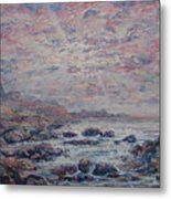 Evening At The Beach Metal Print