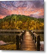 Evening At The Lake Metal Print